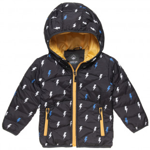 Jacket waterproof with thunder pattern (9 months-5 years)