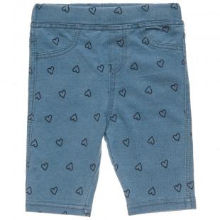 Παντελόνι κοντό με καρδιές (9 μηνών-3 ετών)