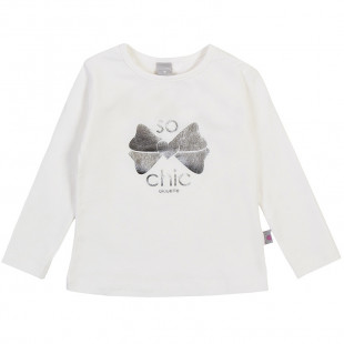 Long sleeve top with foil print (3-18 months)