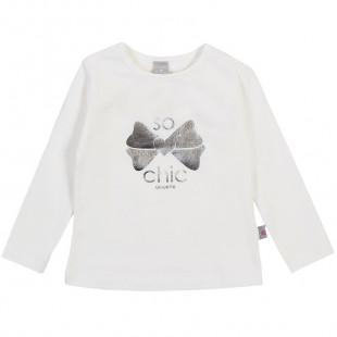 Μπλούζα με μεταλλιζέ τύπωμα So chic (Κορίτσι 3-18 μηνών)