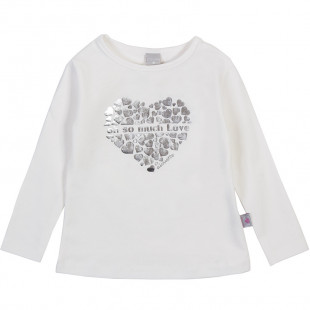 Long sleeve top with foil print ( 3-18 months)