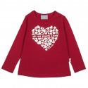 Μπλούζα με γυαλιστερό τύπωμα καρδιά (Κορίτσι 3-18 μηνών)