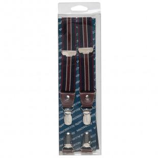 Elastic striped suspenders