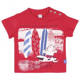 Σετ μπλούζα & βερμούδα με τύπωμα Surfs Up (3-18 μηνών)