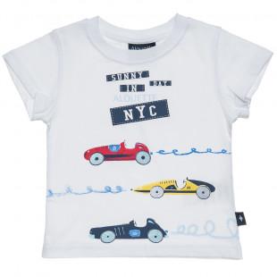 Mπλούζα με τύπωμα αυτοκίνητα (6 μηνών-5 ετών)