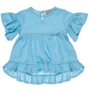 Μπλούζα με βολάν σε 3 χρώματα (18 μηνών-5 ετών)