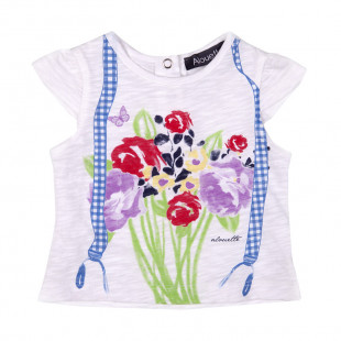 Μπλούζα με τύπωμα λουλούδια (3-18 μηνών)