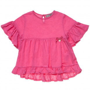 Μπλούζα με βολάν και φιογκάκι (6-12 ετών)