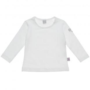 Μπλούζα με στρας λεπτομέρεια στο μανίκι (6-18 μηνών)